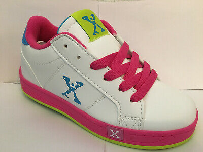 Sidewalk Sports Freeway by Heelys - White/Pink/Cyan/Lime
