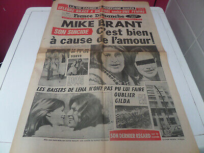 France Dimanche 28-4-1975 Mike Brant Eric Damain Richard Burton Michel Simon