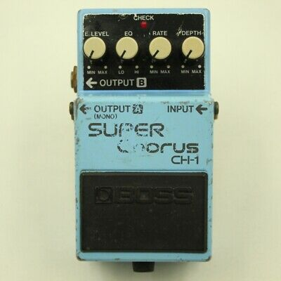 BOSS CH-1 SUPER Chorus Blue Label Guitar effect pedal F/S From Japan (CB13910)