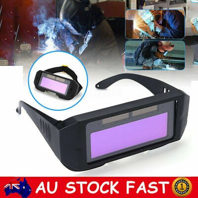 Solar Powered Auto Darkening Welding Glasses Welder Mask Helmet Eye Goggles Tool