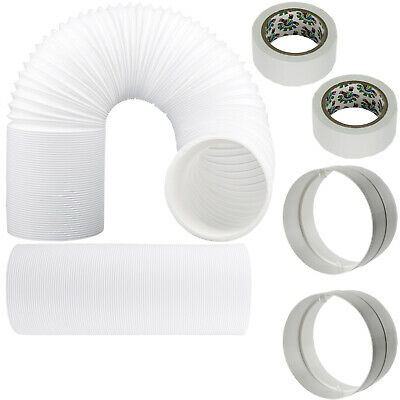 """UNIVERSAL Hose Pipe Vent PVC Extension Kit 9m 5"""" 125mm for Air Conditioner"""