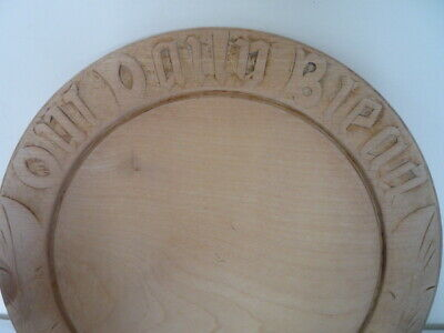 ~ A Good Carved Our Daily Bread Wooden Wood Bread Board Vintage Kitchenalia ~