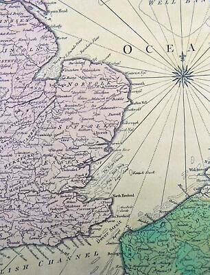 18th century - R.W. Scale/ J. Hinton - An Accurate Map of East Part of England