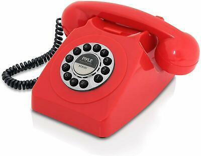 Retro Red Phone Push Button Vintage Telephone Corded Collectors Gift Collectible
