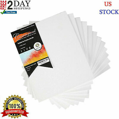 """12PC Pre Stretched Canvas Lot Blank Frame 8X10"""" Large Wall Art WOOD Paint Board."""