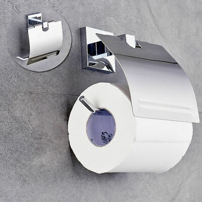Quality Stainless Steel Toilet Towel Roll Paper Holder Case With Cover Practical