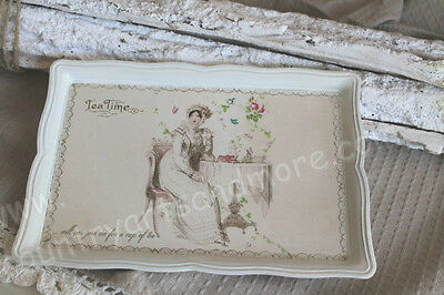 CHIC ANTIQUE, Nostalgie Tablett , Tray * TEA TIME *  Shabby , Brocante, Franske,
