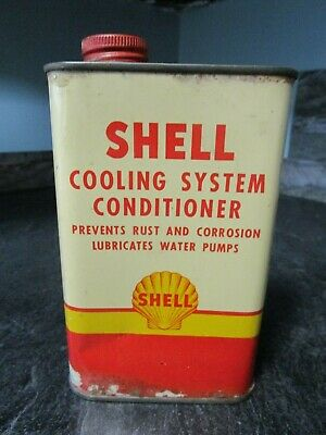 c1940-50s Shell Oil Co Cooling System Conditioner - Gas & Oil Advertising Tin