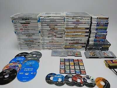 Nintendo Wii, GameCube, 3DS, DS, N64, GB Game Lot 100+ Games