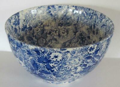 """Laura Ashley Blue Chintz Ware 4.75"""" Rice Bowl Made in Staffordshire England"""