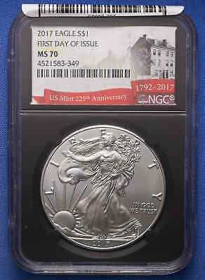 2017 American Silver Eagle NGC MS 70 First Day of Issue