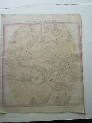 "1856 Burritt's ""The Constellations"", Oct. Thru Dec., Geography Of Heavens Atlas"