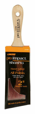 Linzer  2 in. W Angle  Polyester Blend  Trim Paint Brush