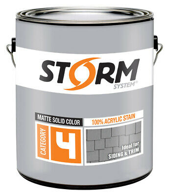 Storm System  Solid  Matte  Deep  Acrylic Latex  Stain  1 gal.
