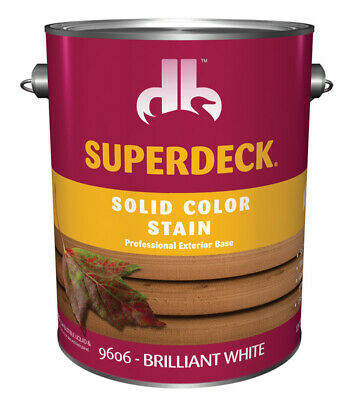 Superdeck  Solid  Brilliant White  Acrylic Latex  Wood Stain  1 gal.