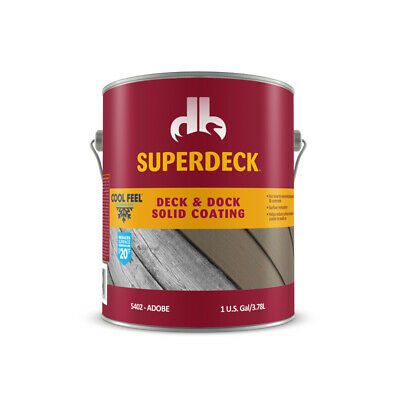 Superdeck  Cool Feel  Solid  Adobe  Acrylic  Deck and Dock Stain  1 gal.
