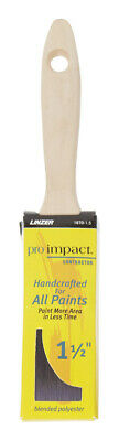 Linzer  Pro Impact  1-1/2 in. W Flat  Polyester Blend  Paint Brush