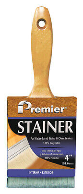 Premier  Stainer  4 in. W Flat  Polyester  Stain Brush