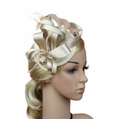 Women Headpieces Floral Fascinator Hat Stage Party Cocktail Hair Clip