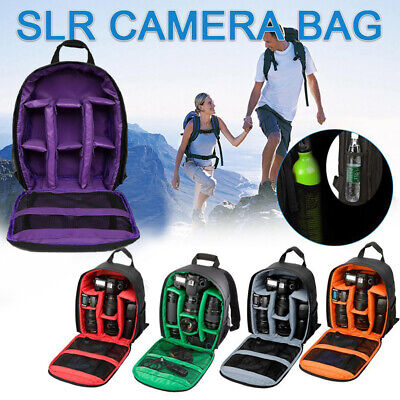 Travel Waterproof Rucksack DSLR SLR Camera Bag Backpack For Canon Nikon Sony