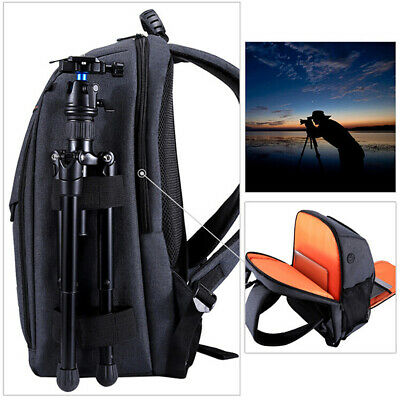 QA_ Waterproof Breathable Camera Bag Storage Carrying Backpack for Canon Nikon