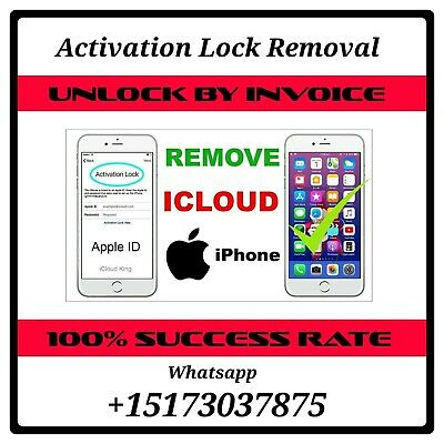 Iphone 5/6/7/8/X/Xr/Xs Icloud Unlock Service Activation Lock Removal Apple Id