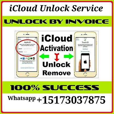 At&T Verizon T-Mobile Sprint Apple Iphone 6/7/8/X/Xr/Xs Icloud Removal Service