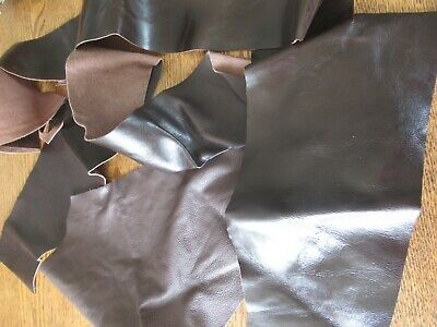 Strips of Vintage Brown Leather- ideal for Leather craft