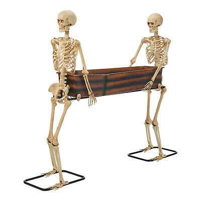 Way to Celebrate Skeleton Duo Carrying Coffin Outdoor Christmas Décor, 5 ft