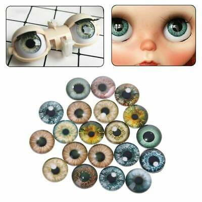 20x Realistic Glass Eye For Doll Animal Eyes Accessories Handmade Crafts Making