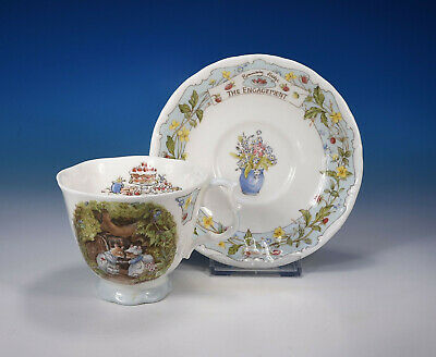 "Royal Doulton"" Brambly Hedge el Compromiso"" Taza & Platillo"