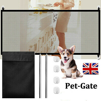 Retractable Baby Pet Dog Gate Safety Guard Magic Mesh Fence