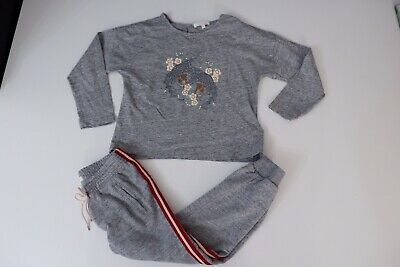 Chloe Girls 2 Piece Outfit Set Top & Joggings Bottoms Age 4 Years Vgc