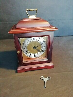 Mahogany Bell Striking Mantle Clock