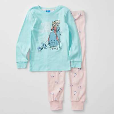 Girls size 7 DISNEY FROZEN  mid season pyjamas pjs  Blue & Pink sparkly  NEW