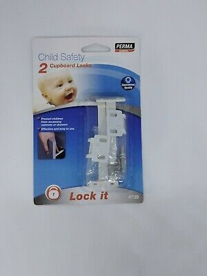 Perma Products Child Safety Pack of 2 Cupboard Locks 8cm