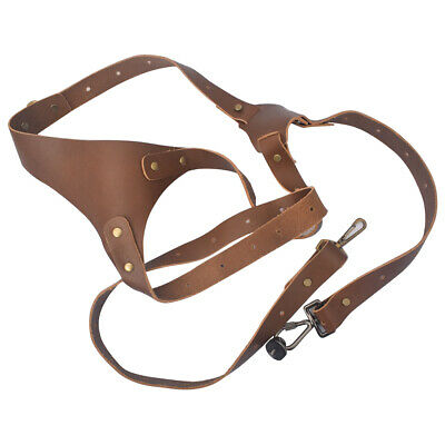 Leather Dual Harness Camera X Cross Shoulder Strap Quick Realeas Adjustable Size