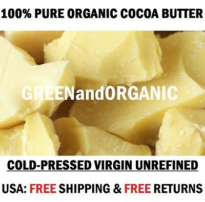 5Lbs Raw COCOA BUTTER Unrefined PURE PRIME PRESSED Natural Premium Cacao NON GMO