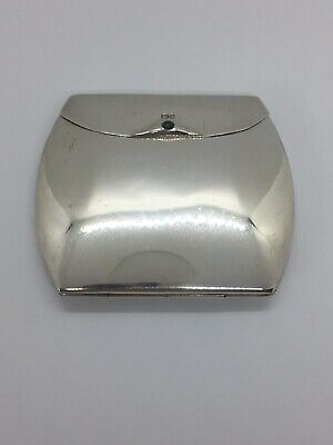 Edwardian 1909 Chester Sterling Silver Cigarette Case by Colen Hewer Cheshire