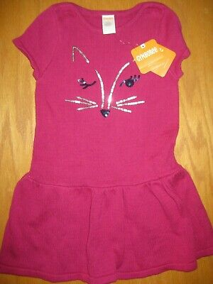 NWT GYMBOREE BACK TO BLOOMS FOX SWEATER DRESS 4,5,10 Girls