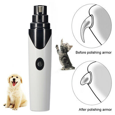 Electric USB Rechargeable Pet Dog Cats Nail Grinder Paw Grooming Trimmer Clipper