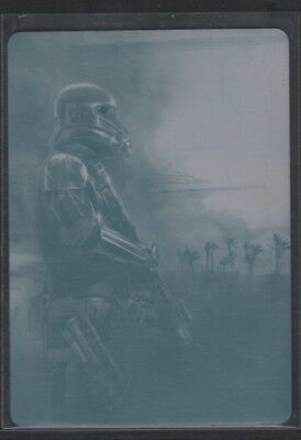 Temibile Morte Trooper Montages Stampa Piastra 1 di 1 Topps Star Wars 081018DBCD