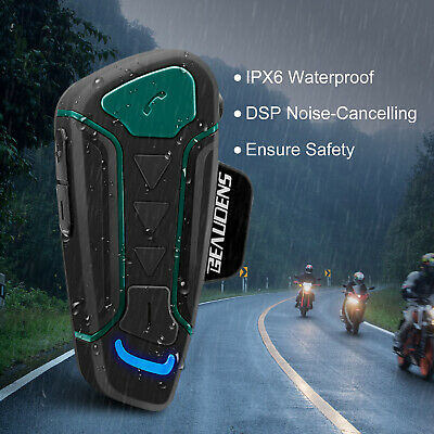 Motorrad BLUETOOTH Gegensprechanlage Helmet Intercom Headset 1200M wasserdicht