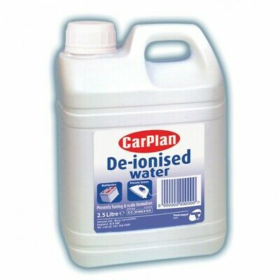 De-Ionised Water Battery & Iron Top Up Distilled 2.5l car plan De-Ionised Water!