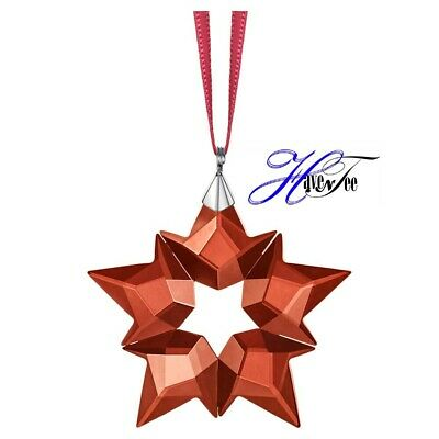 2019 Small Red Holiday Star Ornament Authentic Swarovski Crystal Xmas  5524180