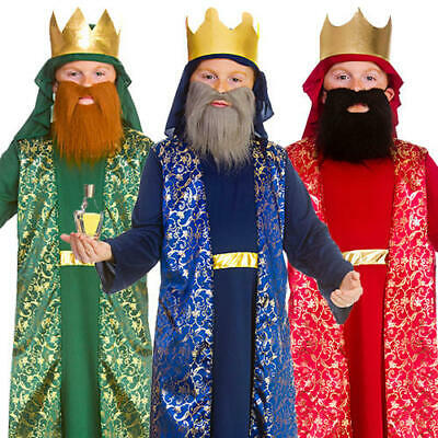 Three Wise Men Boys Kings Fancy Dress Christmas Nativity Kids Festive Costumes