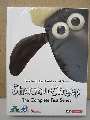 Shaun The Sheep - Complete Series 1 (5-DVD) NEW (Wallace & Gromit/Animation)