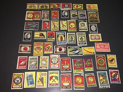 Vintage India Matchbox Label Collection - Objects & Products - Excellent!