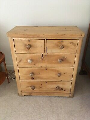 """Victorian pine antique chest of drawers, width 37"""" depth 18"""" height 41"""""""