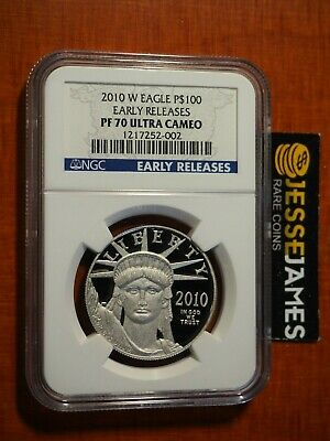 2010 W $100 Proof Platinum Eagle Ngc Pf70 Ultra Cameo Early Releases 1 Oz